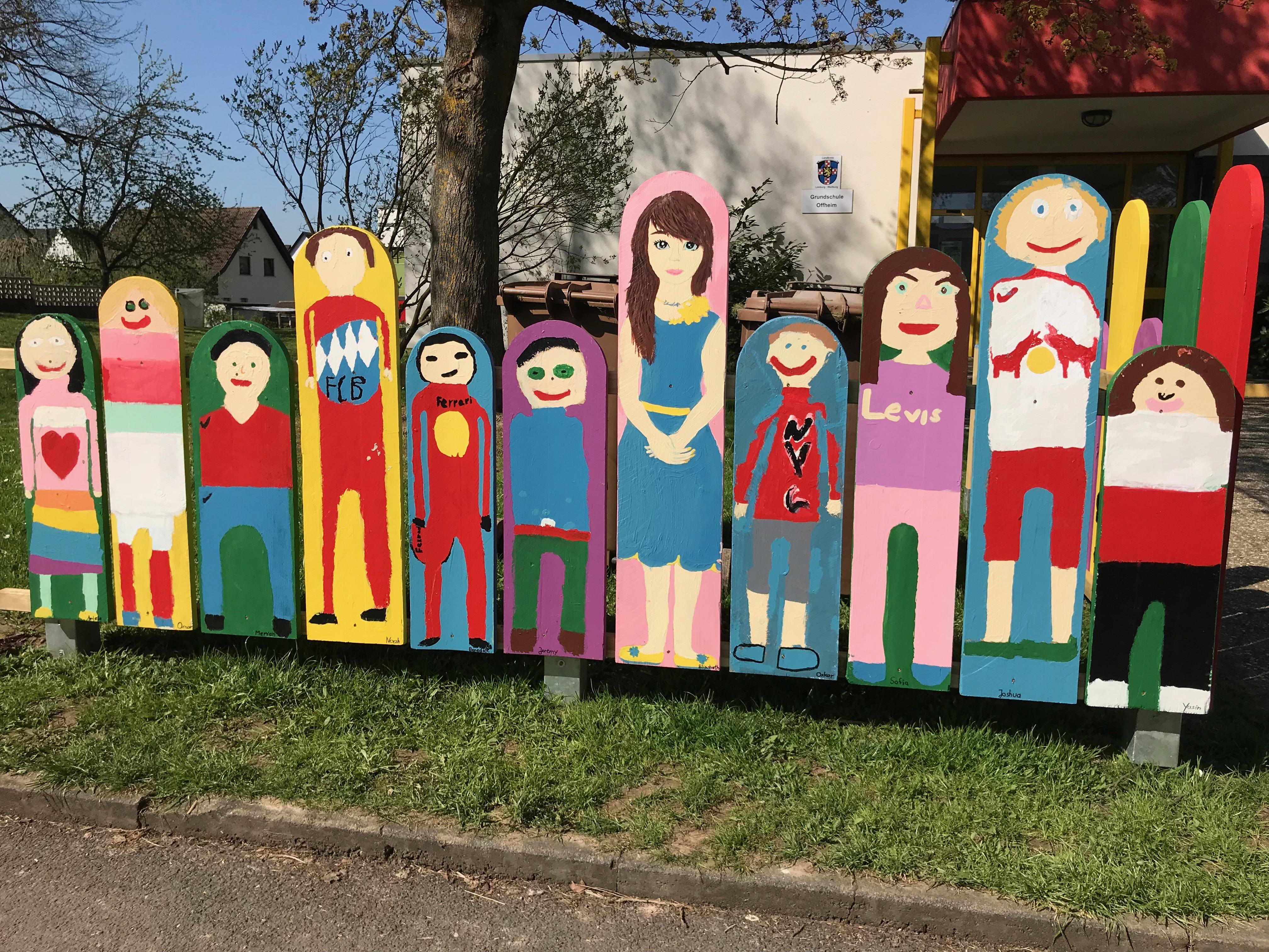 Viertklassler Gestalten Den Schuleingang Grundschule Offheim